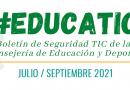 Boletín de seguridad para docentes Julio – Septiembre 2021